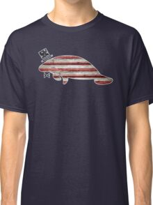 Patriotic, American Flag Manatee  Classic T-Shirt
