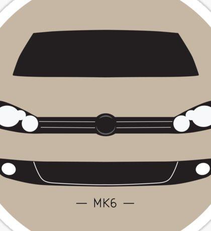 MK6 simple front end design Sticker