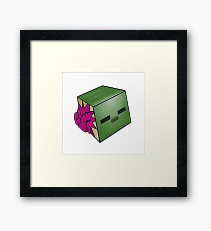 Minecraft Zombie Framed Print