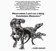 Conclusion: Dinosaurs [Black] Kids Tee