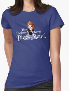 Black Metal Princess Womens Fitted T-Shirt