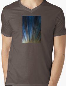 Grungy retro urban lines. Mens V-Neck T-Shirt