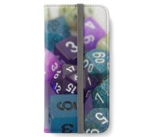 Blue and Purple Dice iPhone Wallet/Case/Skin