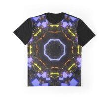 Blue Psychedelic Merchandise Graphic T-Shirt