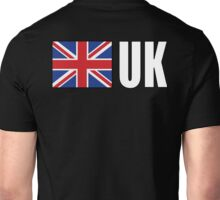 UK, United Kingdom, GREAT BRITAIN, GB, Union Jack, British Flag, ON BLACK Unisex T-Shirt
