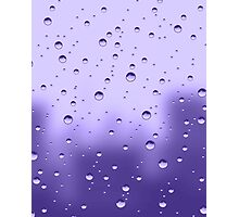 let it rain purple Photographic Print