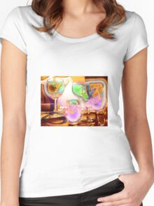 """""""The High Life"""" Women's Fitted Scoop T-Shirt"""