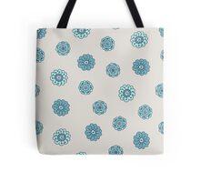 blue doodle floral seamless pattern Tote Bag