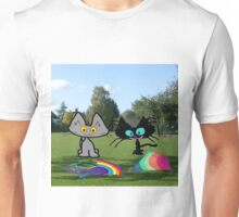 Cats With Colorful Kites Unisex T-Shirt