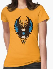 Vinyl Record Tribal Wings Womens Fitted T-Shirt