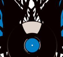 Vinyl Record Tribal Wings Sticker