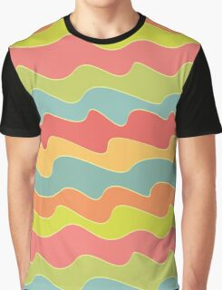 Funny colorful wave pattern Graphic T-Shirt