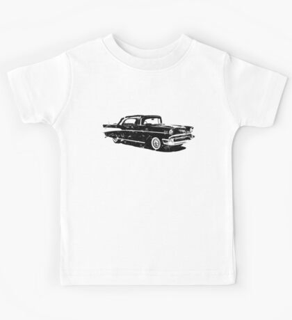 Distressed Classic Chevy Car Kids Tee