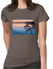 Evening colors Womens Fitted T-Shirt
