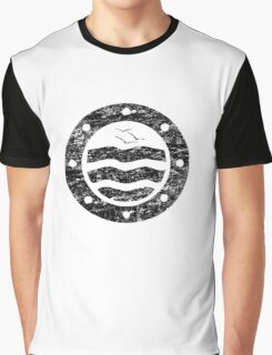Distressed Simple Seascape Graphic T-Shirt