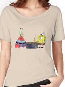 Spongebob cooking with mr crabs Women's Relaxed Fit T-Shirt