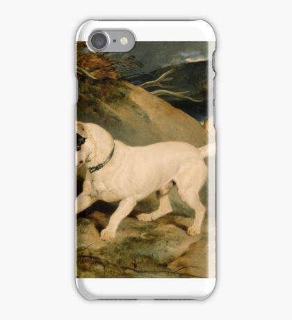 Edwin Landseer (English, ) Portrait of a Terrier, The Property of Owen Williams iPhone Case/Skin