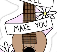 Ukulele Song Lyrics Sticker