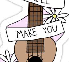 Ukulele Song Lyrics Sticker
