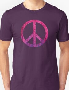 Peace Sign - Grunge Texture with Scratches Unisex T-Shirt