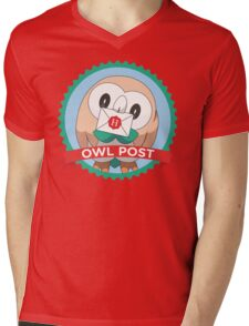 Rowlet Post Mens V-Neck T-Shirt