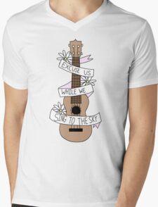 Song Lyrics Ukulele Mens V-Neck T-Shirt