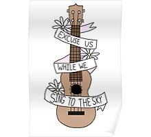 Song Lyrics Ukulele Poster