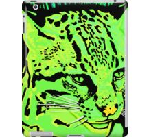 Neon Green Ocelot artwork iPad Case/Skin