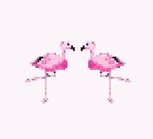 Pixel Flamingos by Prettyinpinks