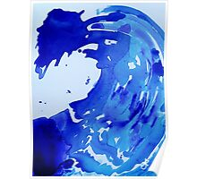 Save The Water Watercolour Poster
