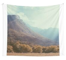 Mountains in the background V Wall Tapestry