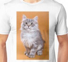 Charming fluffy kitten Siberian cat Unisex T-Shirt