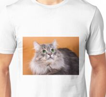 Charming fluffy kitten Siberian cat Unisex T-Shirt