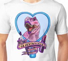 Glamasaurus (white/plain) Unisex T-Shirt