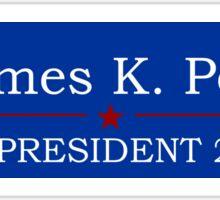 James K. Polk for President Sticker