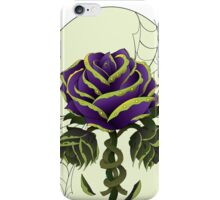Envy, Purple and Green Wilting Rose, Tattoo Design iPhone Case/Skin
