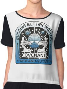 BUILDING BETTER WORLDS (COVENANT) Chiffon Top