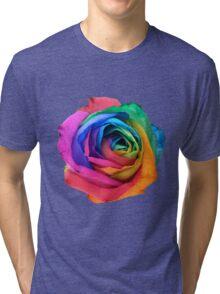 Rainbow Rose 01 Tri-blend T-Shirt