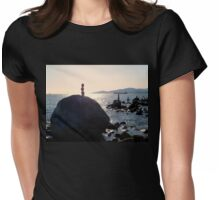 English Bay, Vancouver Womens Fitted T-Shirt