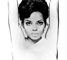 DIANA ROSS FACE GRAPH Photographic Print