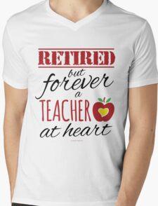 Retired Teacher Mens V-Neck T-Shirt