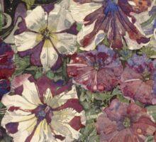 Vintage blue art - Charles Rennie Mackintosh  - Petunias Sticker