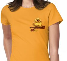 Owl on a Branch Womens Fitted T-Shirt