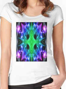 Alien Snowflake Women's Fitted Scoop T-Shirt