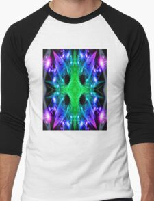 Alien Snowflake Men's Baseball ¾ T-Shirt