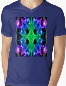 Alien Snowflake Mens V-Neck T-Shirt