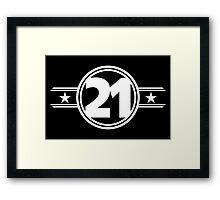 Twenty One Stars Framed Print