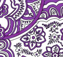 Filigree in Purple Sticker
