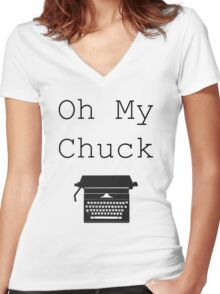 Oh My Chuck Women's Fitted V-Neck T-Shirt