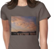 Cowichan Bay at Sunset Womens Fitted T-Shirt